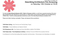 Flyer - Describing Architecture exhibition